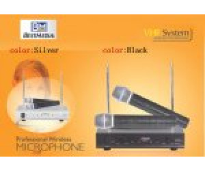 Best Media BM-100VB VHF Dual Channel Wireless Microphone System